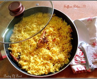 My Version Of Saffron Polao...!!!