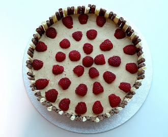 Raspberry Vanilla Cake with Baileys Chocolate Icing
