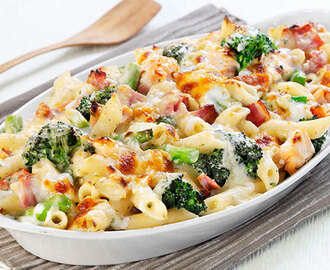 Chicken Broccoli Macaroni and Cheese with Bacon