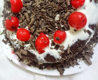Black Forest cake ( eggless )