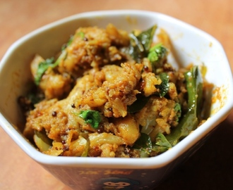 Cauliflower Poriyal Recipe / South Indian Gobi Poriyal (Fry) - Video Recipe