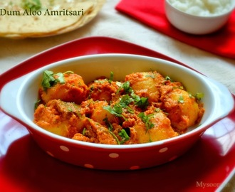 Dum Aloo Amritsari - Baby Potatoes in Gravy