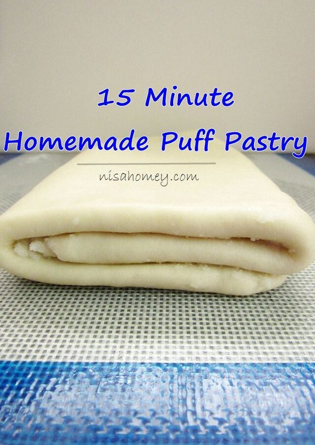 Puff Pastry Recipe - Homemade Puff Pastry