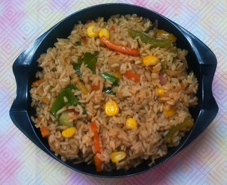 Sweet Corn Capsicum Fried Rice