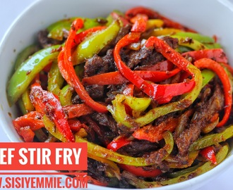 SPICY BEEF STIR FRY + GIVEAWAY!