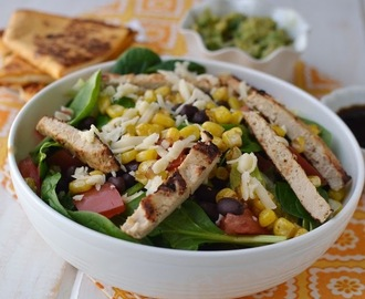 Salad with Black beans & Corn and Citrus Blasamic Vinaigrette