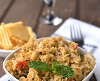 Cabbage-Pudina Pulao (Cabbage Mint Pilaf)