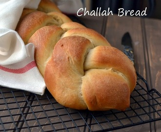 Whole Wheat Challah Bread (Eggless recipe)