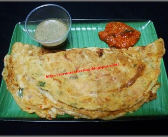 GREEN GRAM DAL & COTTAGE CHEESE DOSA ( SPICY PANCAKE)