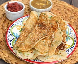 Rava Dosa with Onion Chutney