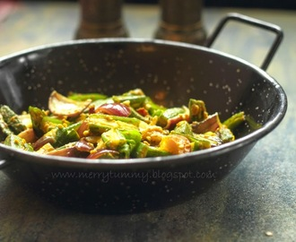 Bhindi Do Pyaza. Okra And Onions Stir Fry
