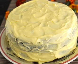 Eggless Mango Cake with Mango Cream Frosting