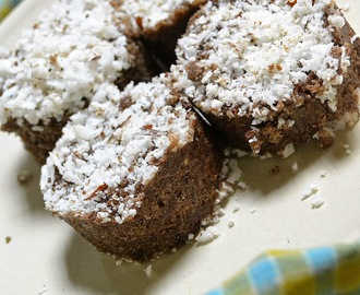 Raagi Puttu ~ Finger Millet Flour Steamed Cakes (Using Leftover Rice)