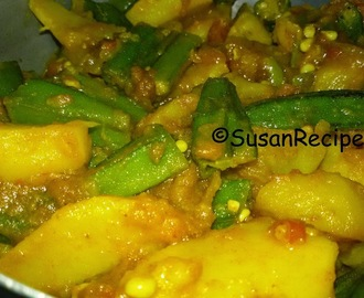 Ladies Finger And Potato Curry