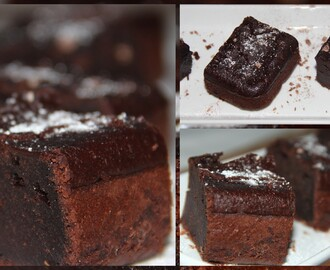 Oats and wheat eggless brownies