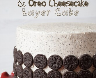 Tarta de chocolate y cheesecake de oreo