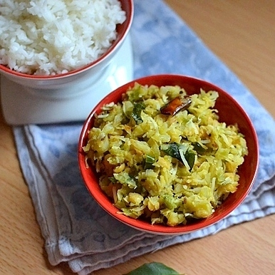 Cabbage-Chana dal Curry