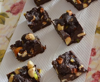 Dark Chocolate Nuts Fudge ~ The BST's Post #500!!!