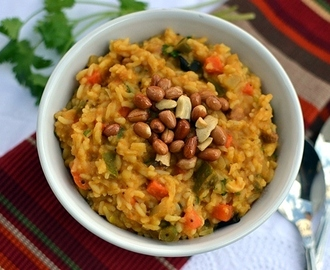 Bisi Bele Bath (Tangy Lentil Rice with Mixed Veggies)