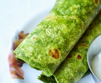palak paratha - spinach paratha - paratha recipes