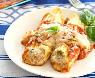 Beef and Cheese Manicotti