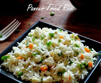 Indian Paneer Fried Rice | Quick And Easy Cottage Cheese Fried Rice Recipe