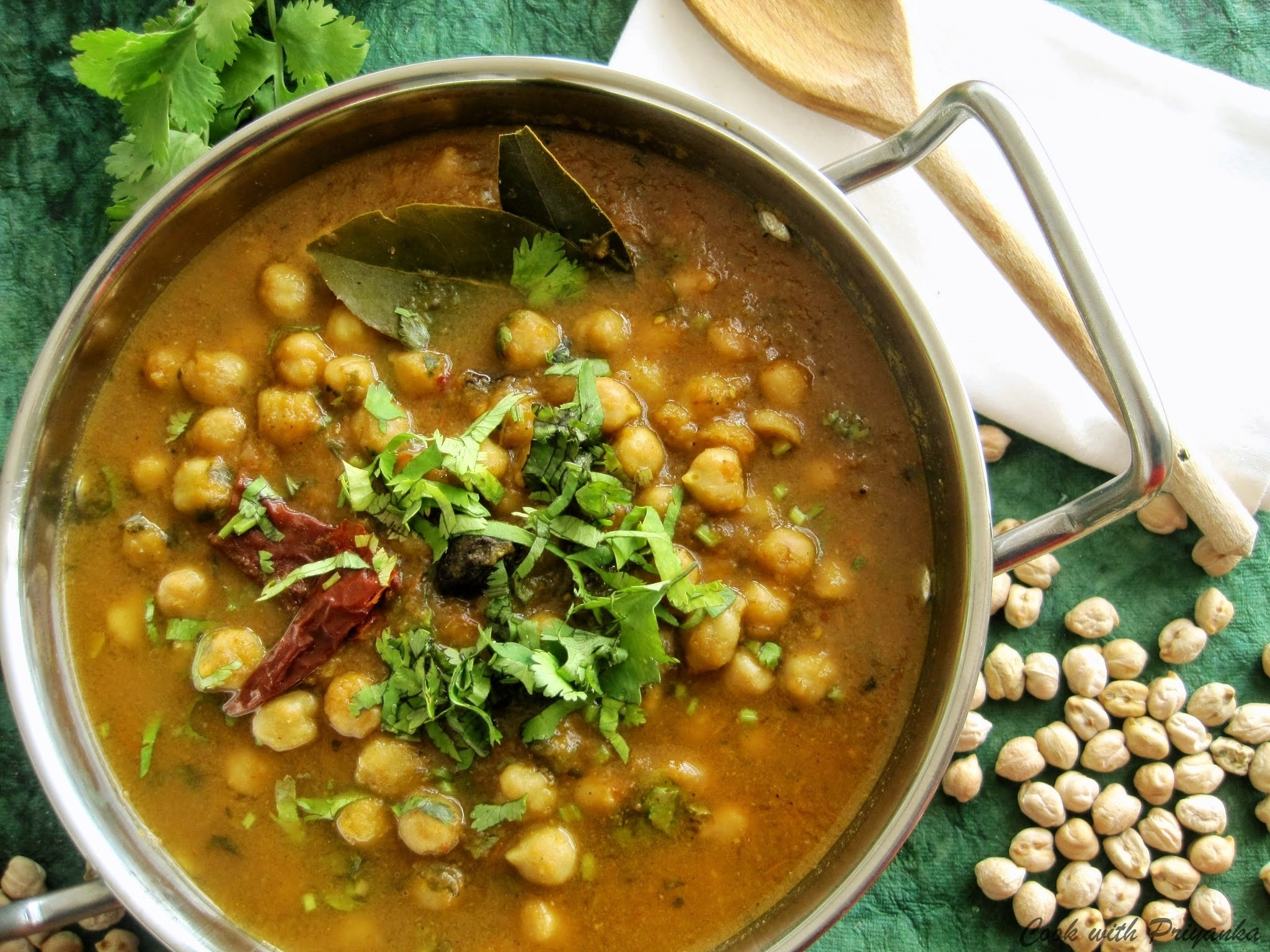 Zero oil Chole/Zero oil Chickpeas in gravy