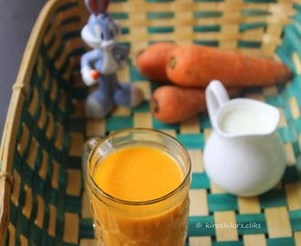 Carrot Juice with Milk Recipe