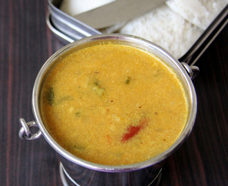 Ridge Gourd sambar for idli / dosa - peerkangai sambar - simple side dish for Idli dosa