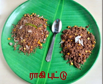 RAGI PUTTU RECIPE-SWEET,SPICY VERSION