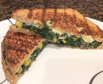 Whole Wheat Spinach Corn Panini