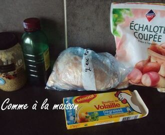 Poulet à la moutarde facile