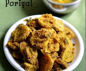 Vazhakkai Poriyal Recipe/Raw Banana Curry(With Fresh Masala)