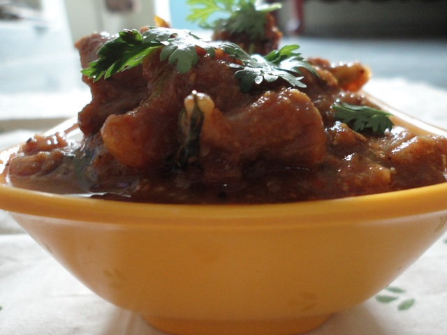 Andhra style Mutton or lamb curry