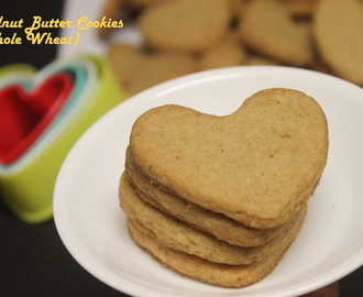 Walnut Butter Cookies (Whole Wheat)