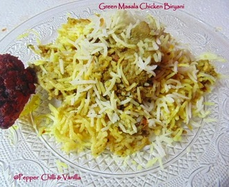 Green Masala Chicken Biryani