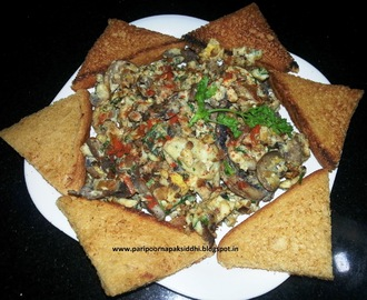 MASALA MUSHROOM BHURJI / SCRAMBLED EGGS WITH MUSHROOMS