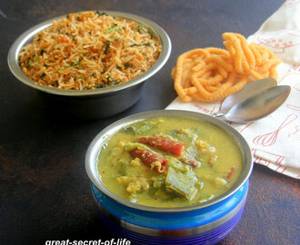 Avarakkai Kootu recipe - Broad Beans Kootu (gravy) recipe - Side Dish recipe