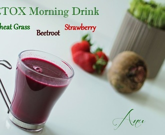 DETOX Morning Drink - Wheat Grass, Beet and Strawberry