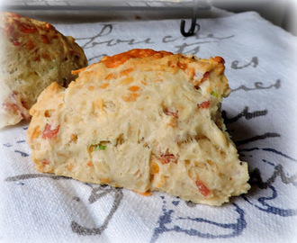 Cheese, Spring Onion & Bacon Scones