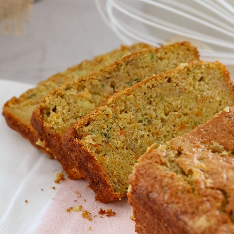 Thermomix Carrot, Apple & Zucchini Loaf