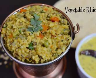 Vegetable Khichdi|Instant Pot Mix Vegetable Lentil Rice|Vegetable Masala Khichdi Recipe