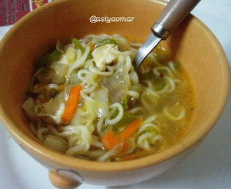 Kids Chicken Veg  Noodles Soup