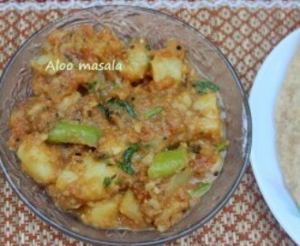 Aloo masala recipe