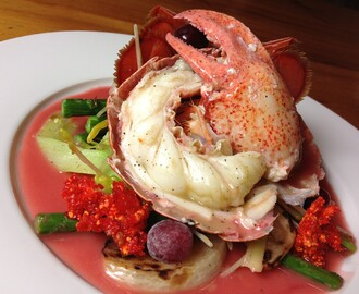 Homard et beurre rouge canneberge
