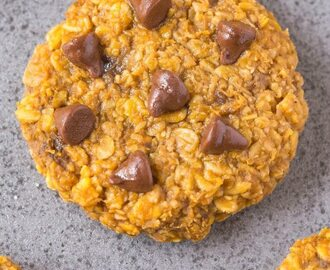 Healthy 3 Ingredient Nut Free Flourless Pumpkin Cookies