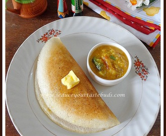 Mysore Masala Dosa using Millet flour