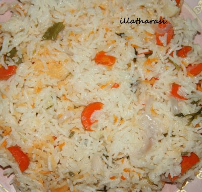 Coconut Milk Rice (Microwave Cooking)