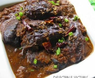 Indian Baby Eggplant in Rich Coffee Infused Sauce: Bhagare Baingan with a Twist