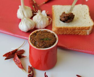Garlic Chutney - Simple spicy chutney recipe